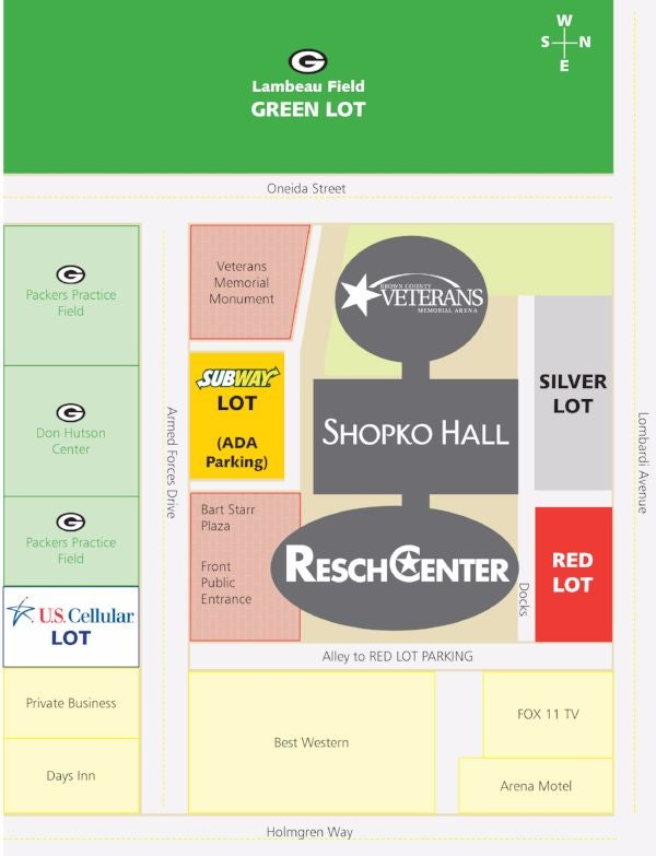 US Cellular Arena Lots Resch Center - Us cellular suite map