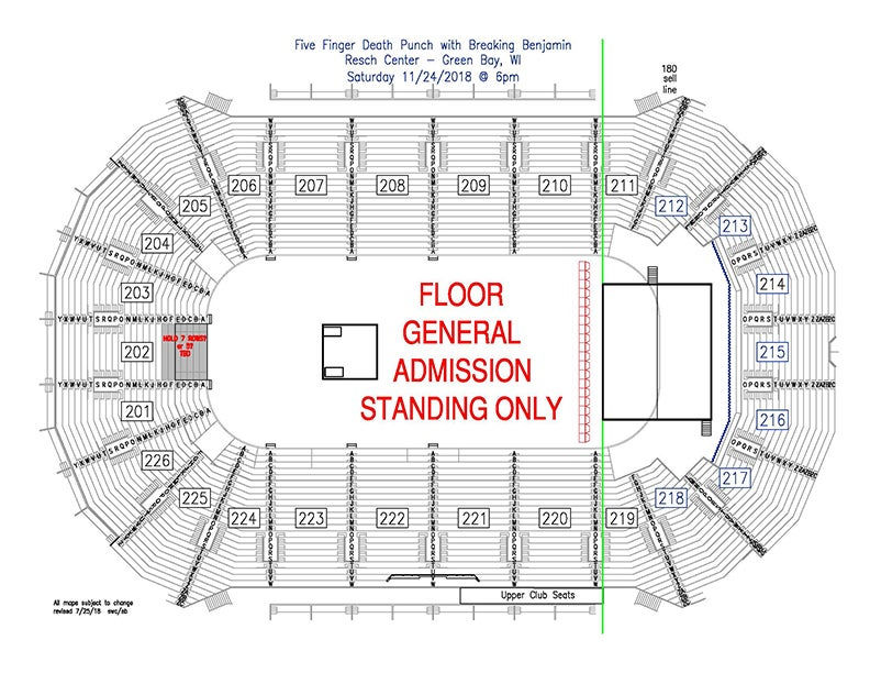 Venue Resch Center Green Bay Wi Get Directions View Seating Chart