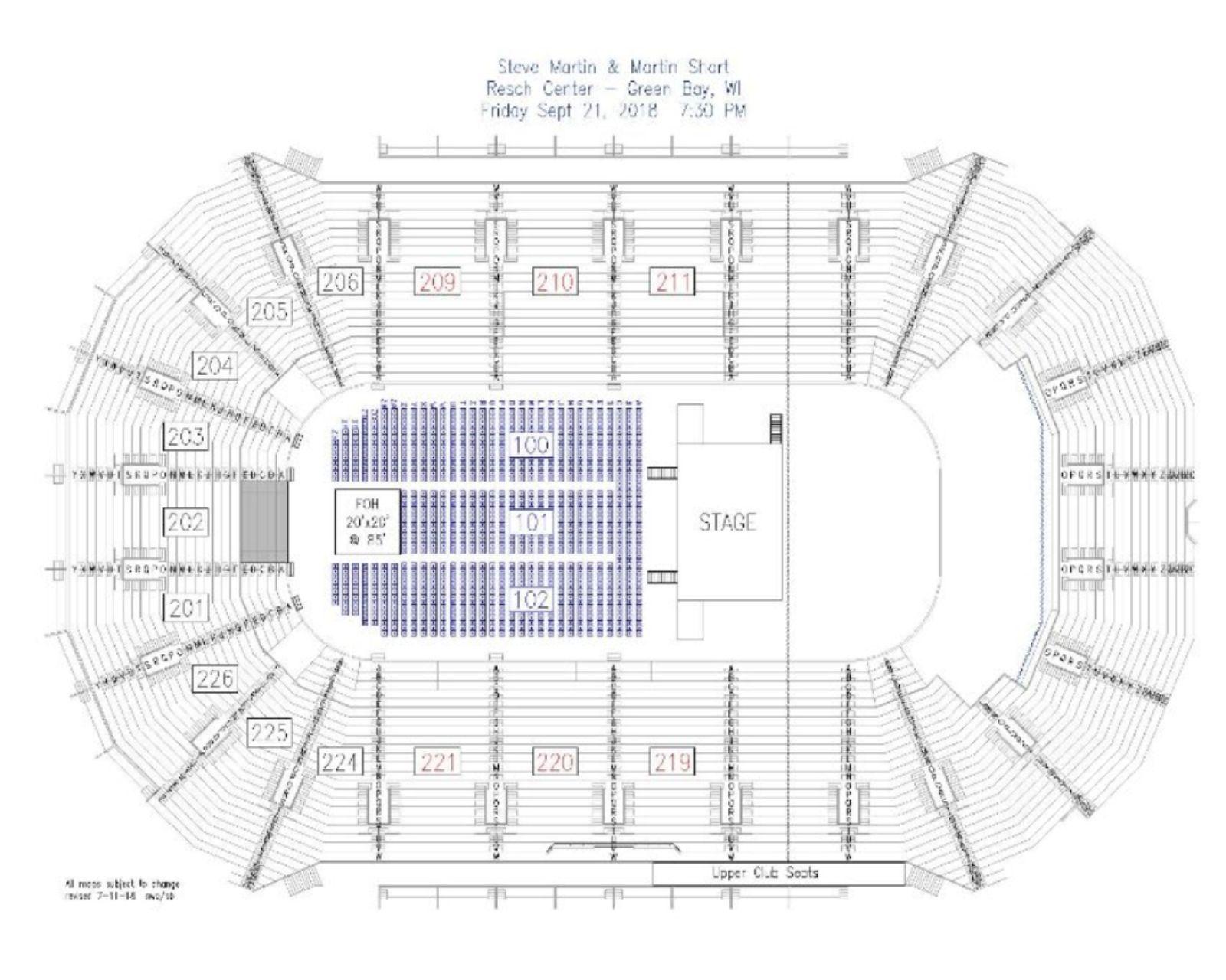 Steve martin martin short resch center view seating chart get directions colourmoves